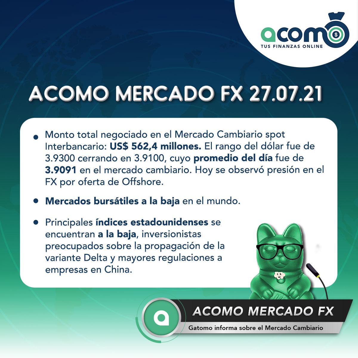 ACOMO- Mercado Forex del 27.07.21
