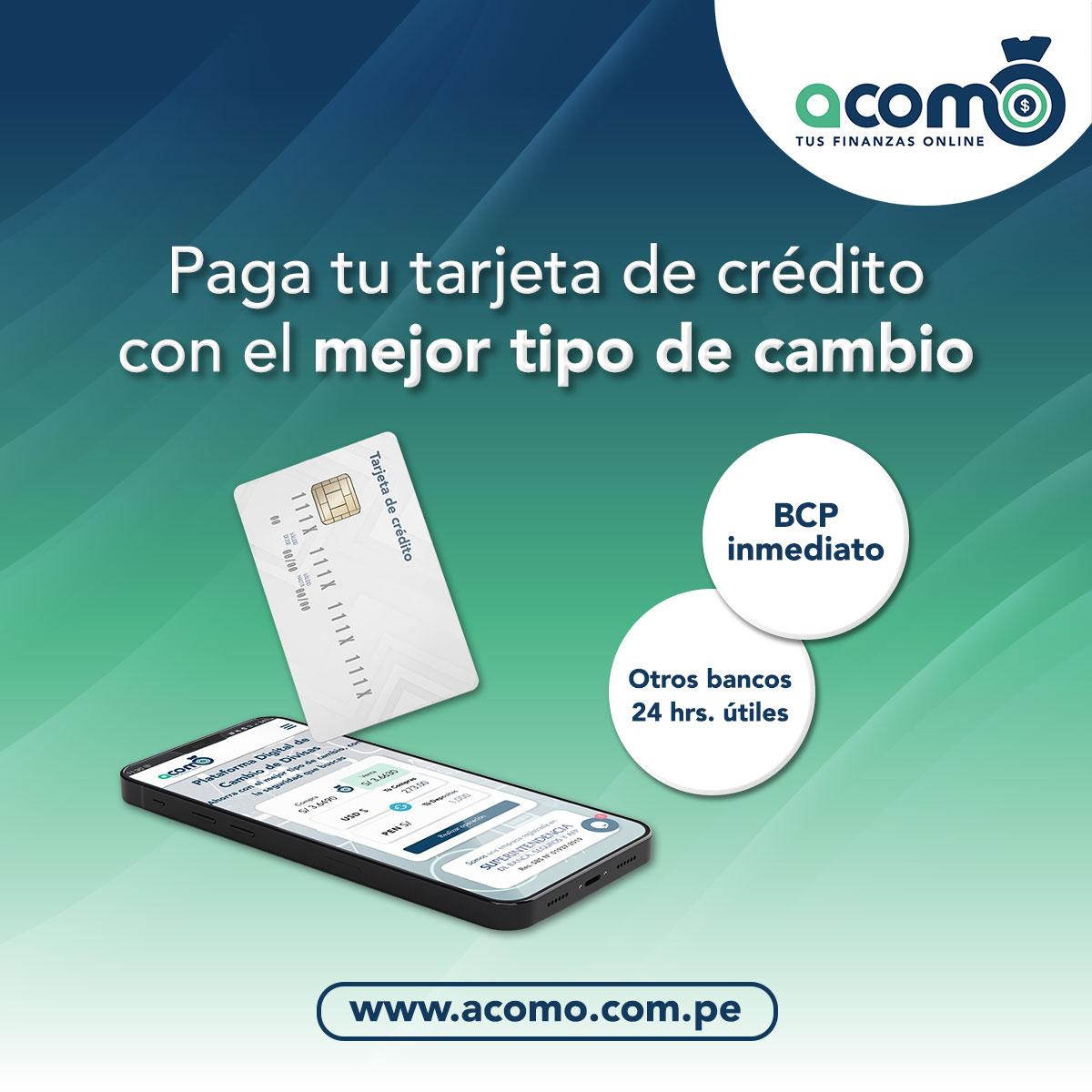 Pagar tu Tarjeta de Crédito con ACOMO